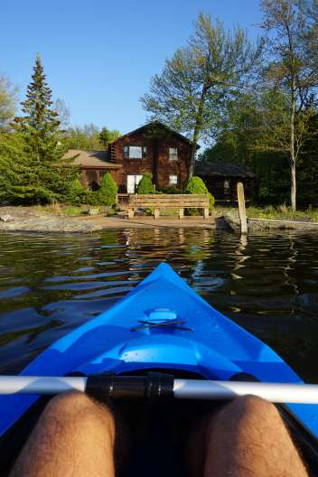 Balade en kayak, Pocono Mountain, Pennsylvanie
